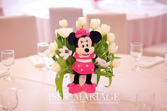 Christening, Minnie Mouse, Table Decorations, Disney Characters, Home Decor, Art, Art Background, Decoration Home, Room Decor