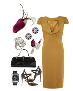 """""""Untitled #130"""" by hamilton-court ❤ liked on Polyvore featuring Alexander McQueen, Awon Golding Millinery, Katheley's, Alejandro Ingelmo, Girard-Perregaux and Biba"""