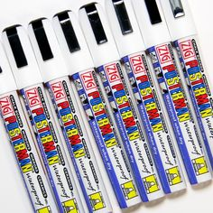 Posterman 6mm White Waterproof Chalpens