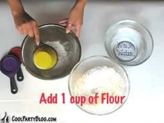 "Paper Mache ""glue"". Mix 1 cup flower and 1.5 cups warm water. Stir until smooth. That's it! :D I'm trying it this week."