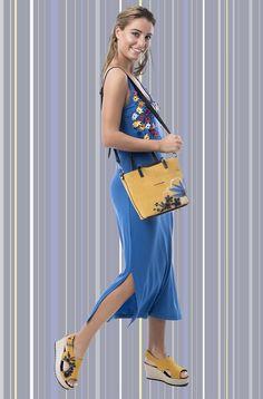 Look mamatayoe primavera/verano 20: vestido Oia + bolso Kavala One Shoulder, Shoulder Dress, Color Azul, Spring Summer, Dresses, Fashion, Vestidos, Plunging Neckline, Colors