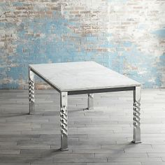 Mallorca Rectangular Marble Top Dining Table in All Paola Navone | Crate and Barrel
