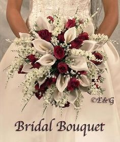 Irresistible Your Wedding Flowers Ideas. Mesmerizing Your Wedding Flowers Ideas. Cascading Wedding Bouquets, Bride Bouquets, Bridal Flowers, Flower Bouquet Wedding, Bridesmaid Bouquet, Silk Flowers, Floral Wedding, Faux Flowers, Bouquet Flowers