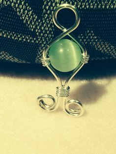 Handmade silver & cats eye necklace pendant
