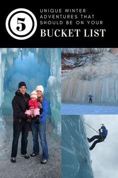 5 Unique Winter Adventures that should be on your Bucket List Amazing Destinations, Travel Destinations, Best Bucket List, I Love Winter, Ice Climbing, Family Travel, Family Trips, Travel Scrapbook, Travel Alone