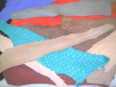 Suede Fish Skin Leather Colors
