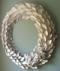 newspaper wreath map wreath tutorial fall par weirdlittleworld