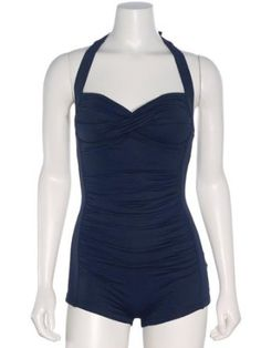 Seafolly Womens Boyleg Maillot Swimsuit,