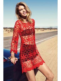 H&M Loves Cochella Crochet Lace Tunic Dress XS NWOT