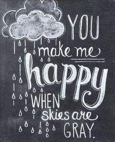 You Make Me Happy Print - Nursery Art - Chalkboard Art - Chalk Art - Chalkboard Print. via Etsy. Vintage Chalkboard, Chalkboard Signs, Chalkboards, Chalkboard Ideas, Chalkboard Art Quotes, Chalkboard Lettering, Chalk Quotes, Chalkboard Window, Lettering Art