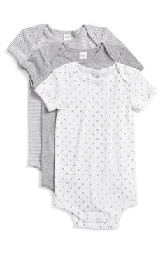 Nordstrom Baby Cotton Bodysuits (Set of 3) (Baby) available at #Nordstrom