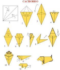 Origami de cachorro