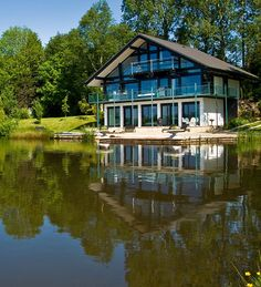 UK's only Grand Designs 5 star 'Huf Haus' holiday accommodation   - The Lake at Cleveley Mere - My next Birthday location  www.cleveleymere.com