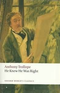 Book Jacket Art From Anthony Trollope S He Knew He Was Right Written In 1869 Litterature Historique Adaptation