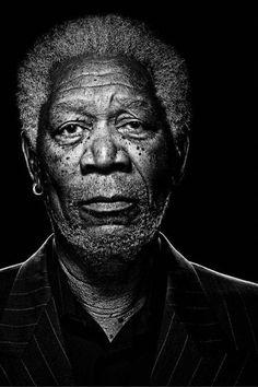 fabforgottennobility: Grande Morgan #Morgan #Freeman # Black and white