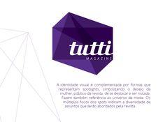 Construção da marca da revista Tutti.