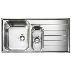 Rangemaster Oakand £154 Tapsuk Length (Left to Right) - 985mm Width (Front to Back) - 508mm Depth (Top to Bottom) - 190mm Minimum Cabinet Size - 600mm Cutout Dimensions - 965mm x 488mm Main Bowl Size (Length x Width x Depth) - 360mm x 424mm x 190mm Second Bowl Size (Length x Width x Depth) - 156mm x 342mm x 120mm Tap Hole Diameter - 35mmmm
