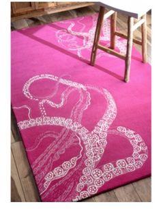 Octopus rug for girl nursery.