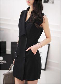 City Formal Vest Dress - DRESSES - CLOTHING - WOMEN | Korean Fashion Online Shopping Mall - KOODING.com