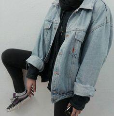 Drop Shoulder Denim Jacket - #denim #jacket #grunge