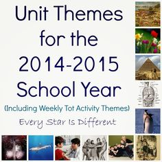 Every Star Is Different: Unit Themes for the 2014-1015 School Year