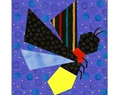 Flighty Friends paper pieced quilt block patterns INSTANT DOWNLOAD PDF