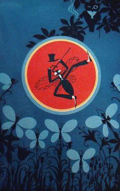 Elizabeth Cadie, 1920 -  Art Deco children's book illustrations