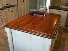 [ Dark Wood Walnut Butcher Block Countertops Butcherblock Countertop Made Pine And Stained With Stain ] - Best Free Home Design Idea & Inspiration Walnut Countertop, Countertop Options, Walnut Cabinets, Walnut Butcher Block, Remodeling Costs, Rustic Country Kitchens, Butcher Block Countertops, Building A New Home, Walnut Wood