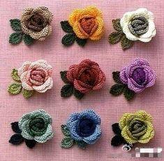 코바늘 도안 : 장미 코사지 만드는 방법, 장미꽃도안, 장미꽃패턴 : 네이버 블로그