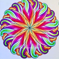 Love how birght and colourful this mandala colouring page is which was coloured in by @my_coloring_life with their Chameleon Pens.  #chameleon #chameleonpens  #mandala_art #colorist #coloringbookforadults #coloring #volwassenenkleurenook #bayan_boyan #art #my_coloring_life
