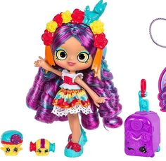 Shopkins Season 8 World Vacation (Americas) Shoppies Doll - Rosa Piñata Shoppies Dolls, Shopkins And Shoppies, Shopkins Season 8, Shopkins World, Barbie Birthday, Lol Dolls, Barbie Dolls, Doll Stands, Cute Toys