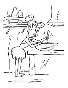 Desenhos para pintar Os Flintstones 33