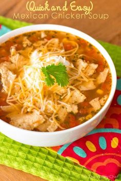 Quick and Easy - Mexican Chicken Soup #soup #foofporn #dan330 http://livedan330.com/2015/04/07/hurry-easy-mexican-chicken-soup/