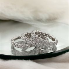 Round diamond eternity bands that compliment your style year-round!