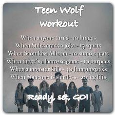 Teen Wolf workout - leg workout