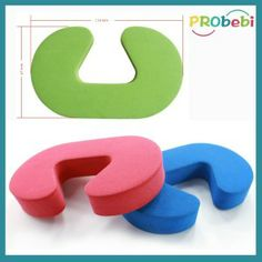 Attach to door for baby safety finger pinch guard. C shape design door guard of high flexibility EVA foam, easytoclip on most doors not fa...