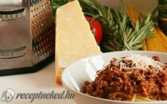 Bolognai spagetti, ami nem is bolognai, és nem is spagetti Spagetti Recipe, Pork Skewers, Gourmet Recipes, Healthy Recipes, Carrots And Green Beans, Lamb Stew, Recipe Mix, World Recipes, Ice Cream Recipes