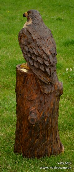 Chainsaw carved eagle carving pinterest