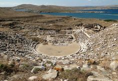 The island of Delos near Mykonos, near the centre of the Cyclades archipelago, is one of the most important mythological, historical and. Santorini Tours, Santorini Island, Most Beautiful Greek Island, Beautiful Islands, Beautiful Places, Delos Greece, Mykonos Greece, Greek Isles, Ancient Greece