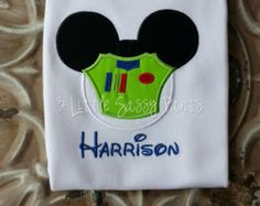 Buzz Lightyear Mickey Mouse Embroidered Shirt- Applique- Toy Story- Disney- Buzz- Woody- Custom- Vacation
