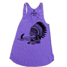 Cat Chillin Tank Women's Purple