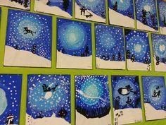 Utstilling blå, svarte og hvite vinterbilder