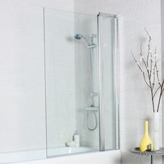 Kartell Koncept Straight Bath Screen Square Edge with Extension Panel 1400 x 920 Kartell Bath Screens, Straight Baths, Square Bath, Bath Screens, Doors Online, Shower Screen, The Prestige, Chrome, Glass, Bathrooms