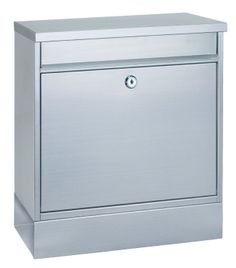 Rottner Hochhaus II Set Large Stainless Steel Letter Box with Integrated Newspaper Holder: Amazon.co.uk: DIY & Tools