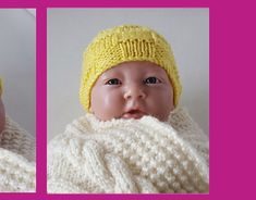 Block stitch beanie knitting pattern in for prem and newborn babies. Knitted Baby Beanies, Newborn Babies, Baby Knitting, Headbands, Doll Clothes, Knitting Patterns, Baby Shoes, Sweaters For Women, Crochet Hats
