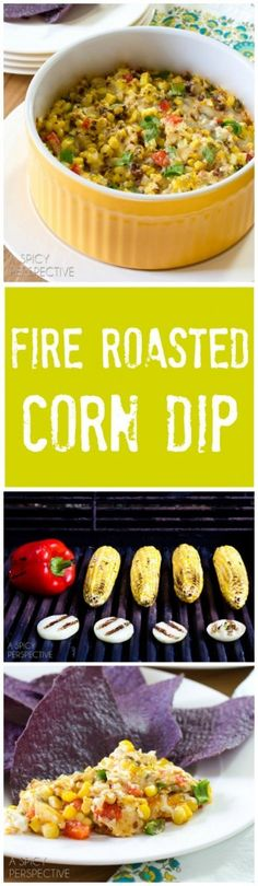 Here's a chunky, cheesy, creamy, smoky, corn dip that is slap-you-speechless good! If you've got guests coming over this week, this Fire Roasted Corn Dip i