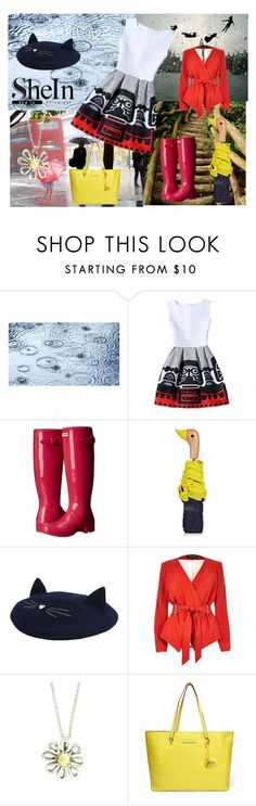 """rainy"" by fashionshelter ❤ liked on Polyvore featuring Hunter, Topshop, Monsoon, River Island, Tiffany & Co. and Diane Von Furstenberg"