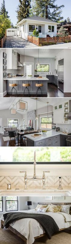 A Napa Valley cottage designed by Lindsay Chambers // Tiny Living // Open Floor Plan Cottage Design, Tiny House Design, Cottage Style, Style At Home, Tiny House Living, Small Living, Living Room, Little Houses, Tiny Houses