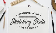 How to Improve Your Sketching Skills in 30 Days: The Challenge Pencil Drawings For Beginners, Pencil Drawings Of Girls, Pencil Drawing Tutorials, Easy Drawings, Drawing Ideas, 30 Day Drawing Challenge, 30 Day Challenge, Architecture Sketches, Nature Artists