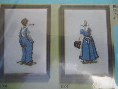 Dutch Man & Woman Pair Petit Point Needlepoint Alice Godkin Kit No. Needlepoint Patterns, Cross Stitch Patterns, Costume Patterns, Paper Quilling, Cool Patterns, Dutch, Alice, Unisex, Quilts